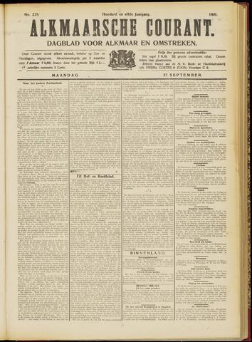 Alkmaarsche Courant 1909-09-27