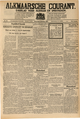Alkmaarsche Courant 1934-10-06