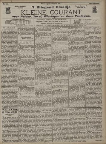 Vliegend blaadje : nieuws- en advertentiebode voor Den Helder 1906-11-21