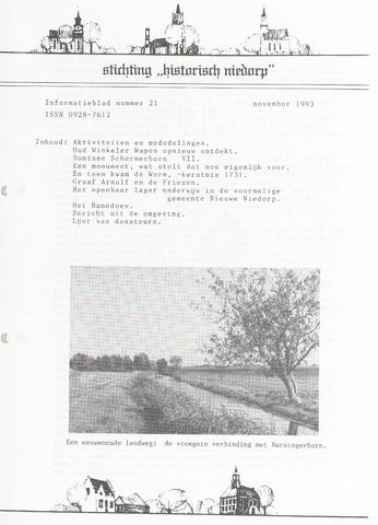 Informatieblad stichting Historisch Niedorp 1993-11-01
