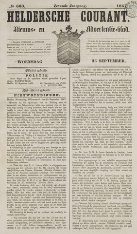 Heldersche Courant 1867-09-25