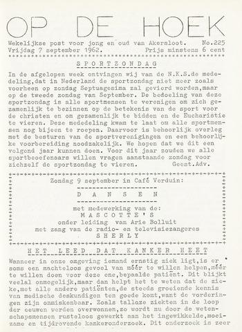 Op De Hoek, weekblad voor Akersloot 1962-09-07