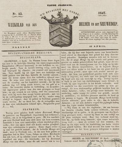 Weekblad van Den Helder en het Nieuwediep 1847-04-12