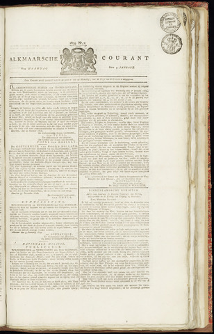 Alkmaarsche Courant 1829-01-05