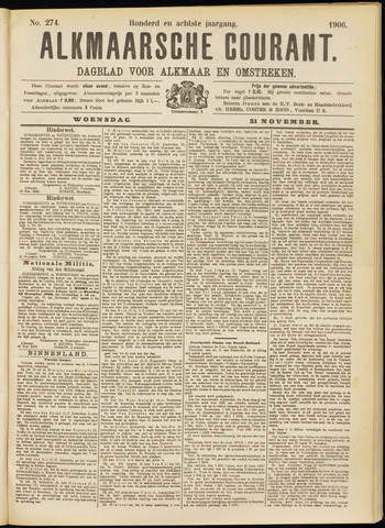Alkmaarsche Courant 1906-11-21
