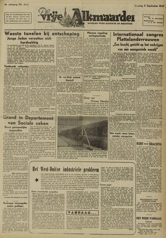 De Vrije Alkmaarder 1947-09-09