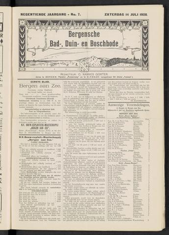 Bergensche bad-, duin- en boschbode 1928-07-14