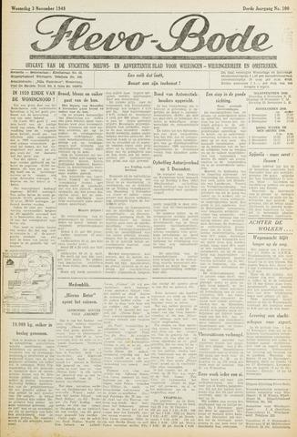 Flevo-bode: nieuwsblad voor Wieringen-Wieringermeer 1948-11-03
