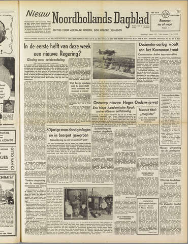 Nieuw Noordhollandsch Dagblad : voor Alkmaar en omgeving 1951-03-05