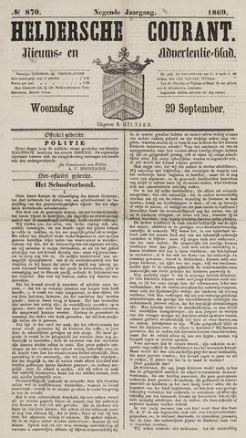 Heldersche Courant 1869-09-29
