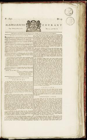 Alkmaarsche Courant 1832-04-09