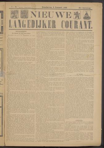 Nieuwe Langedijker Courant 1922-01-05