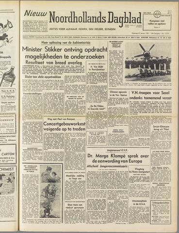 Nieuw Noordhollandsch Dagblad : voor Alkmaar en omgeving 1951-01-29