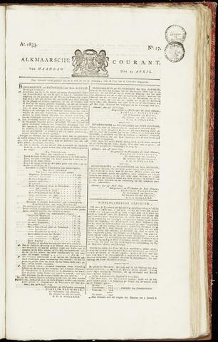 Alkmaarsche Courant 1833-04-29