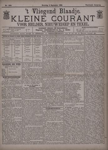 Vliegend blaadje : nieuws- en advertentiebode voor Den Helder 1886-09-04