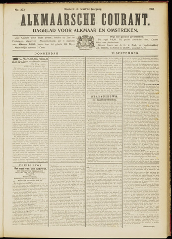 Alkmaarsche Courant 1910-09-22