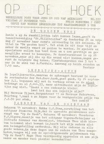Op De Hoek, weekblad voor Akersloot 1964-11-27