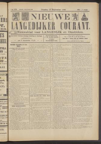 Nieuwe Langedijker Courant 1923-09-18