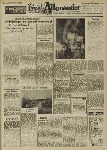 De Vrije Alkmaarder 1949-11-10