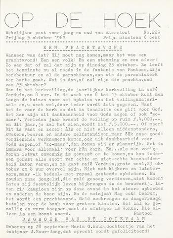 Op De Hoek, weekblad voor Akersloot 1962-10-05