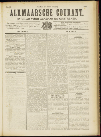 Alkmaarsche Courant 1909-03-29