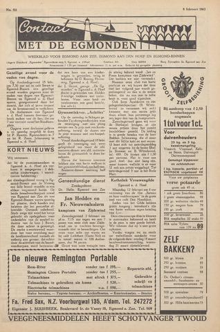 Contact met de Egmonden 1962-02-08