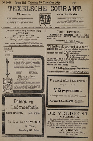 Texelsche Courant 1916-11-25