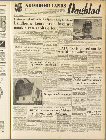 Noordhollands Dagblad : dagblad voor Alkmaar en omgeving 1958-04-15