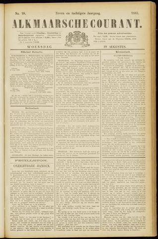 Alkmaarsche Courant 1885-08-19