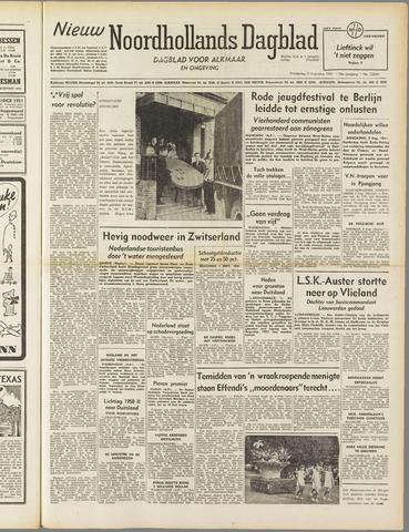 Nieuw Noordhollandsch Dagblad : voor Alkmaar en omgeving 1951-08-09