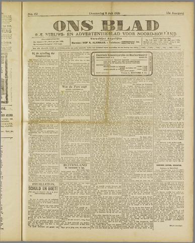 Ons Blad : katholiek nieuwsblad voor N-H 1920-07-08
