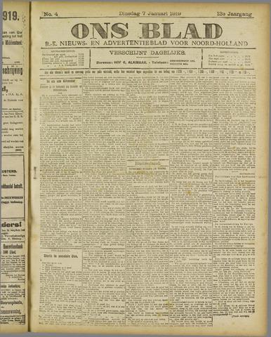 Ons Blad : katholiek nieuwsblad voor N-H 1919-01-07