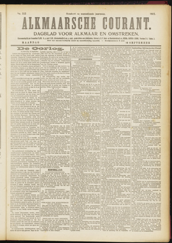 Alkmaarsche Courant 1917-09-10