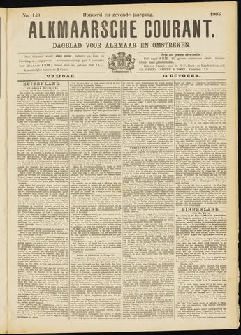 Alkmaarsche Courant 1905-10-13