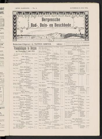 Bergensche bad-, duin- en boschbode 1914-07-11