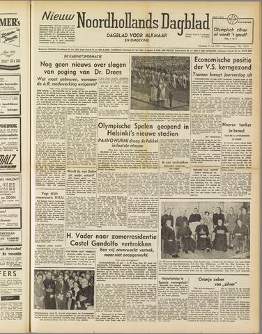 Nieuw Noordhollandsch Dagblad : voor Alkmaar en omgeving 1952-07-21