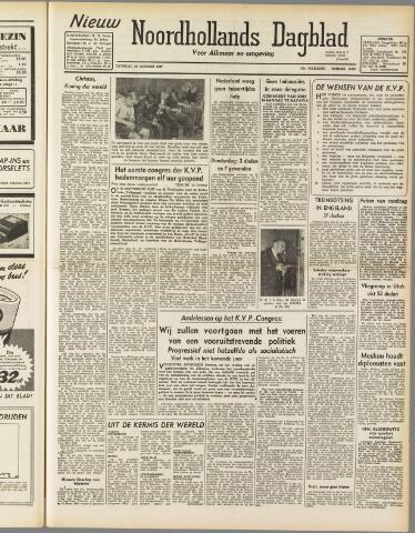 Nieuw Noordhollandsch Dagblad : voor Alkmaar en omgeving 1947-10-25