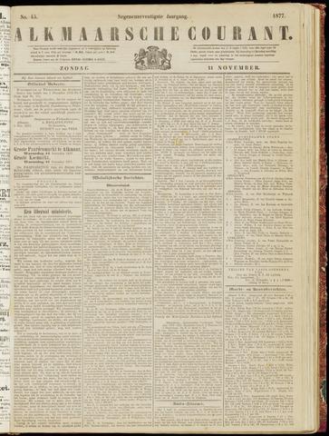 Alkmaarsche Courant 1877-11-11