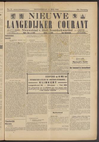 Nieuwe Langedijker Courant 1933-05-11