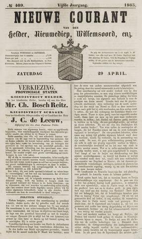 Nieuwe Courant van Den Helder 1865-04-29