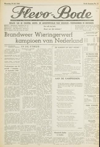 Flevo-bode: nieuwsblad voor Wieringen-Wieringermeer 1948-07-28