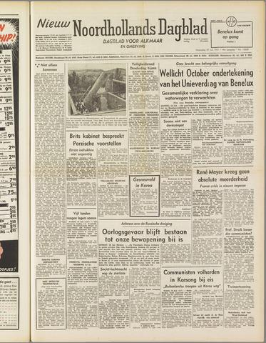 Nieuw Noordhollandsch Dagblad : voor Alkmaar en omgeving 1951-07-25