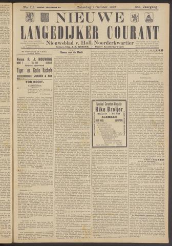 Nieuwe Langedijker Courant 1927-10-01