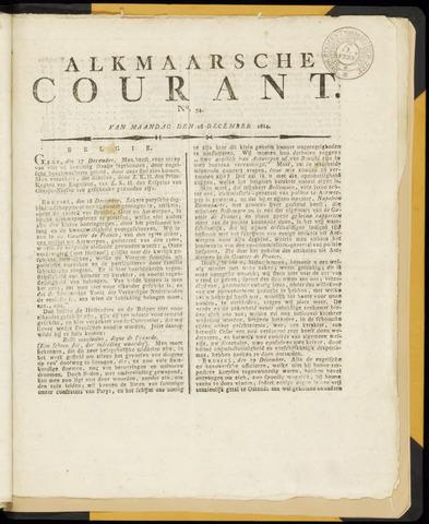 Alkmaarsche Courant 1814-12-26