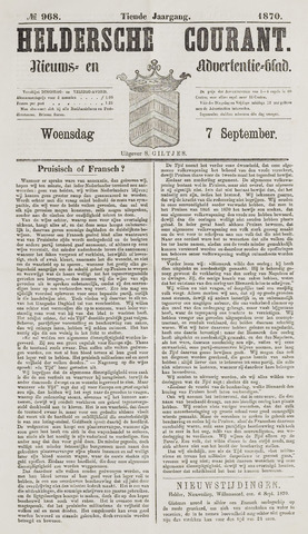 Heldersche Courant 1870-09-07