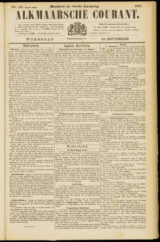 Alkmaarsche Courant 1902-09-24