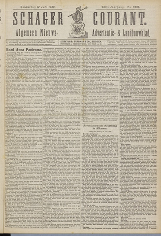 Schager Courant 1920-06-17