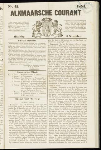 Alkmaarsche Courant 1854-11-06