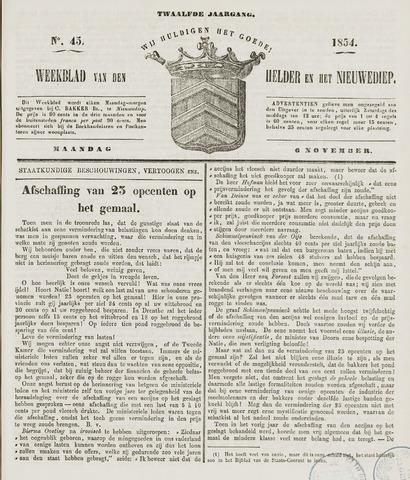 Weekblad van Den Helder en het Nieuwediep 1854-11-06
