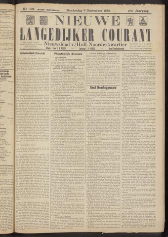 Nieuwe Langedijker Courant 1928-09-06